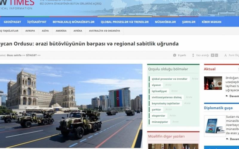 Azərbaycan Ordusu: ərazi bütövlüyünün bərpası və regional sabitlik uğrunda