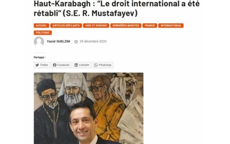 Azərbaycan beynəlxalq hüququn prinsiplərini təkbaşına həyata keçirməyi bacardı
