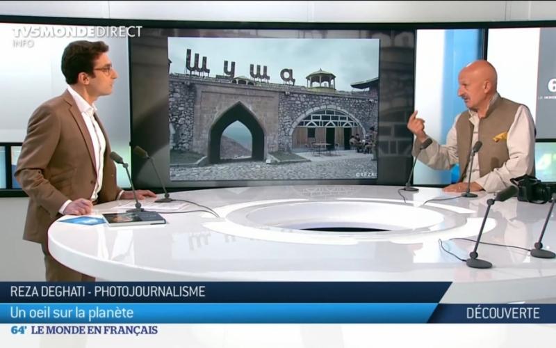 Reza Deqati Fransanın TV5MONDE kanalında Şuşanın tarixindən, erməni vəhşiliklərindən və Azərbaycan multikulturalizmindən bəhs edib