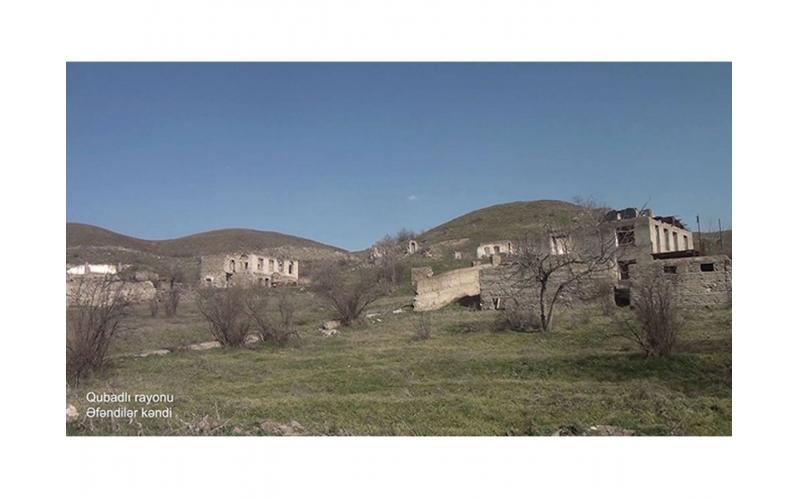 Qubadlı rayonunun Əfəndilər kəndi - VİDEO