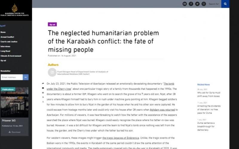 Qarabağ münaqişəsinin unudulmuş humanitar problemi: itkin düşmüş şəxslərin taleyi