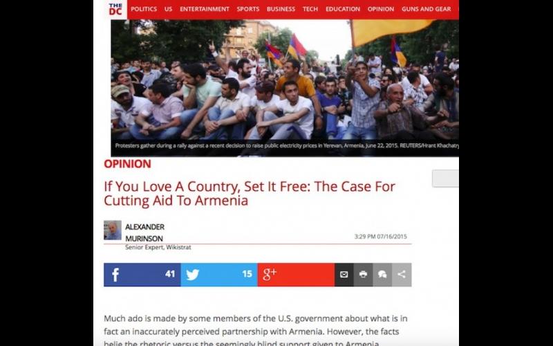Amerikalı ekspert ABŞ hökumətini Yerevana maliyyə yardımını dayandırmağa çağırıb