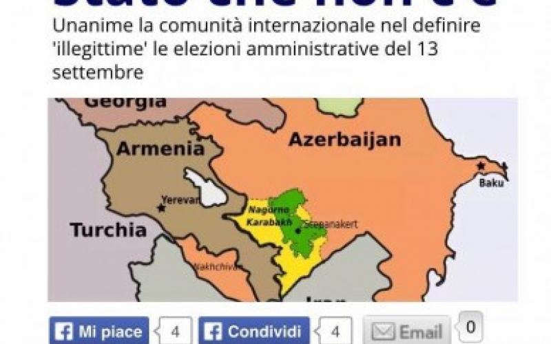 """İtaliyanın """"L'indro"""" xəbər saytı Cənubi Qafqazdakı son vəziyyəti təhlil edib"""
