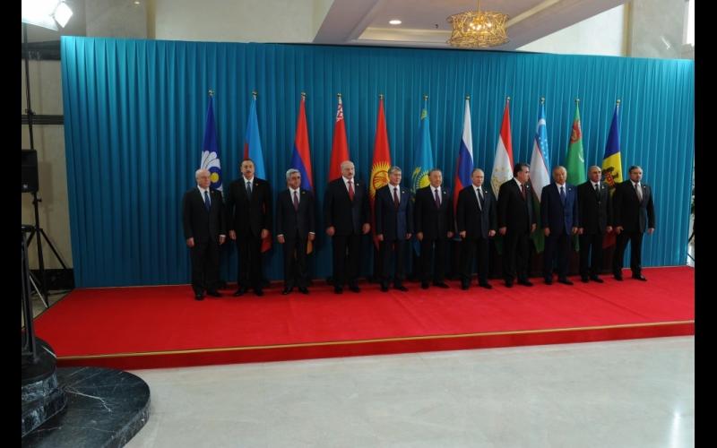 Azərbaycan Prezidenti İlham Əliyev MDB Dövlət Başçıları Şurasının Qazaxıstanda keçirilən iclasında iştirak edib