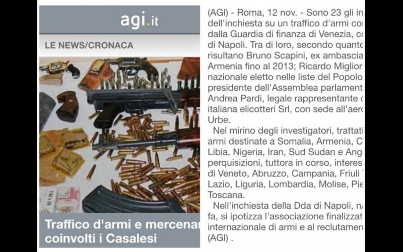 İtaliyada Ermənistanın qanunsuz silah alverində iştirakı araşdırılır