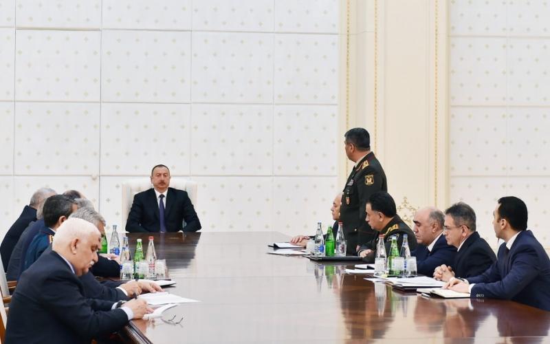 Azərbaycan Prezidentinin yanında Təhlükəsizlik Şurasının iclası