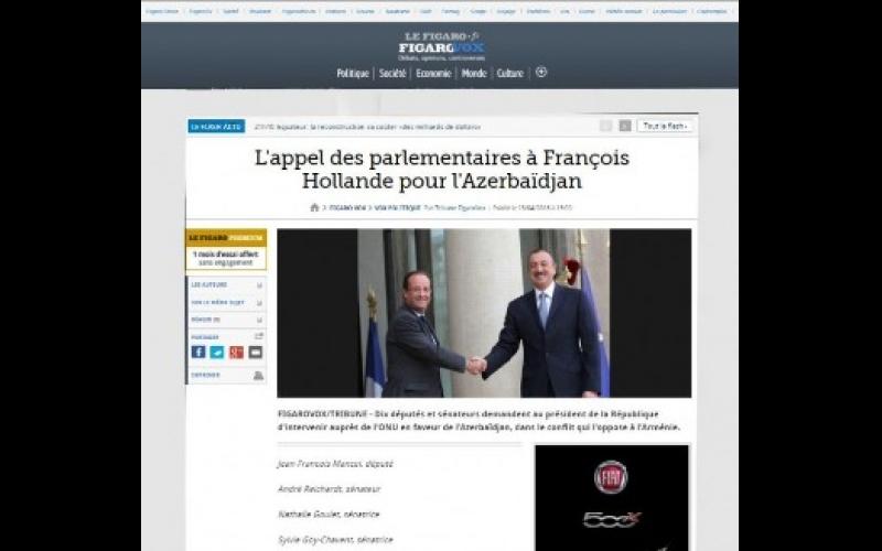 Fransa mediası Azərbaycan həqiqətlərindən yazır
