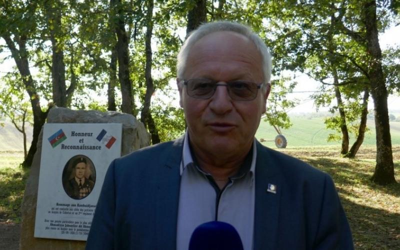 Fransis Delmas: Fransanın azadlığı uğrunda döyüşmüş azərbaycanlı partizanlar əlaqələrimizi əbədiləşdiriblər