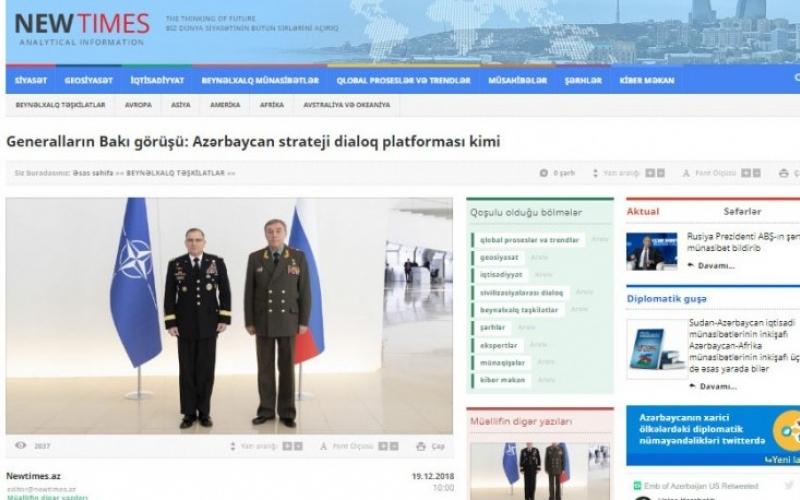 Generalların Bakı görüşü: Azərbaycan strateji dialoq platforması kimi