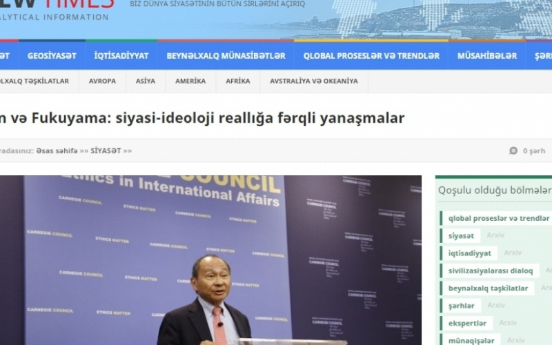 Putin və Fukuyama: siyasi-ideoloji reallığa fərqli yanaşmalar