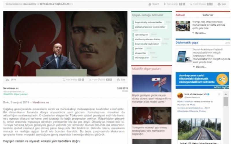 Türkiyənin müstəqil güc olmaq strategiyası: yeni mərhələnin başlanğıcı