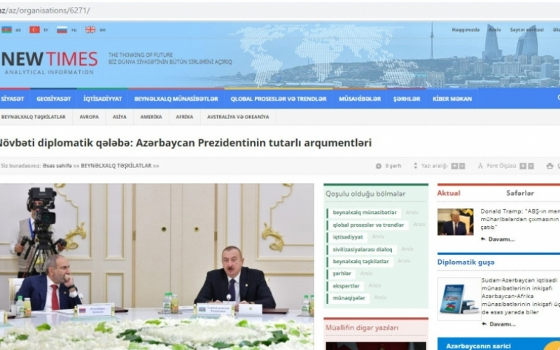 Növbəti diplomatik uğur: Azərbaycan Prezidentinin tutarlı arqumentləri