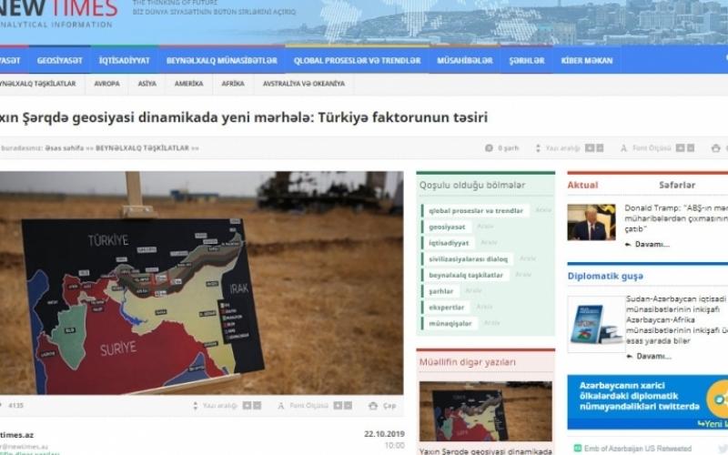 Yaxın Şərqdə geosiyasi dinamikada yeni mərhələ: Türkiyə faktorunun təsiri