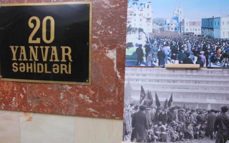 """""""20 Yanvar"""" metrostansiyasında sərgi: """"Tariximizin 30 illik yarası"""""""