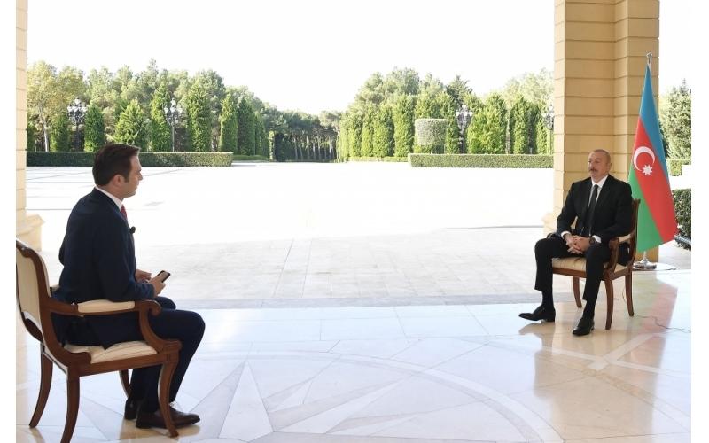 """Prezident İlham Əliyev: """"Bütün dağılmış yerləri bərpa edəcəyik"""""""