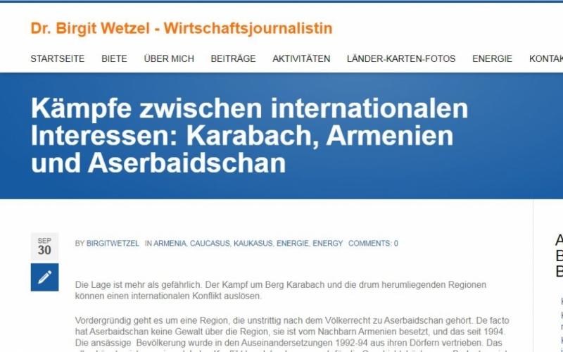Alman jurnalisti: Azərbaycanın böyük potensialı var