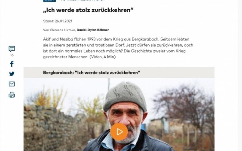 Alman portalında ermənilər tərəfindən dağıdılmış kəndlər haqqında videoreportaj yerləşdirilib