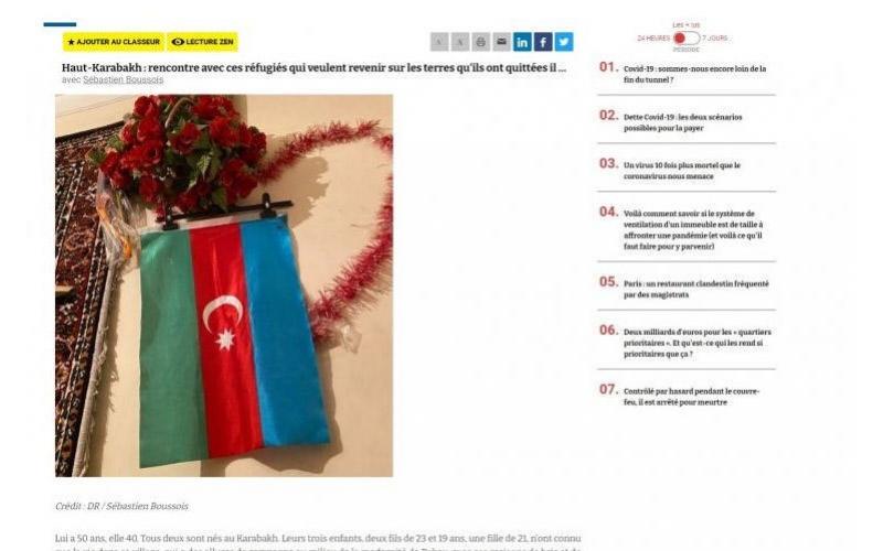Fransız jurnalist: 44 günlük müharibədə qələbə qazanan Azərbaycan beynəlxalq hüquqla tanınan ərazilərini azad edib