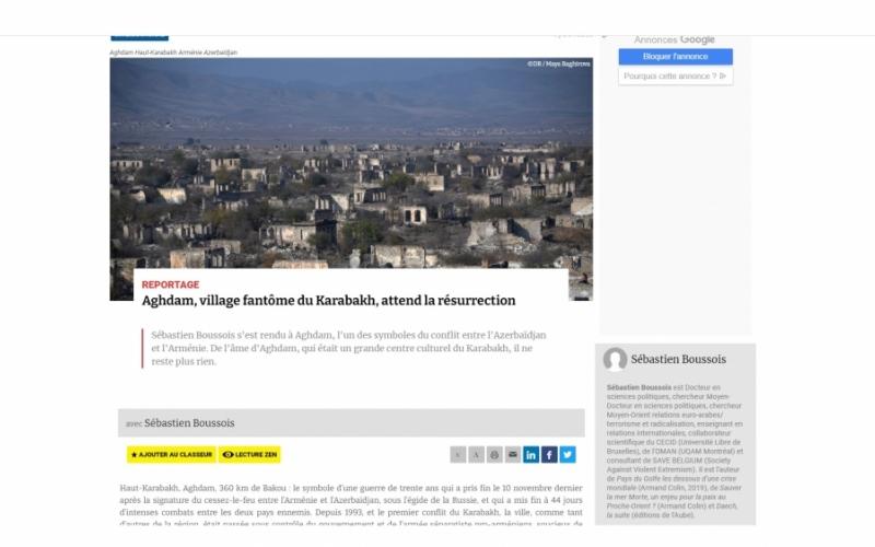 """Fransanın """"Atlantico"""" portalı: Qarabağın kabus şəhəri Ağdam dirçəlişini gözləyir"""