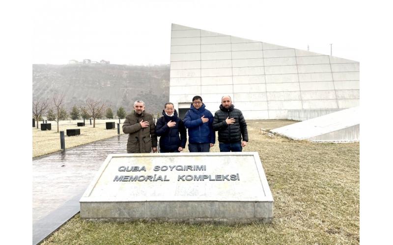 Yaponiyalı iş adamları Quba Soyqırımı Memorial Kompleksini ziyarət ediblər