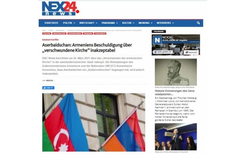 Əcnəbi media erməni saxtakarlığından yazır