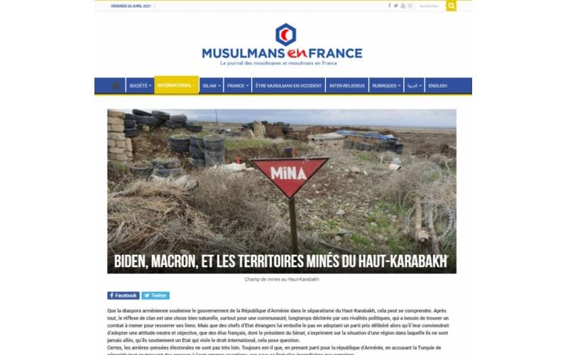 Fransa portalı: Ermənistan azad olunmuş ərazilərdəki minaların xəritəsini Azərbaycana verməkdən imtina edir