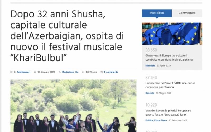 """Əcnəbi media  """"Xarıbülbül"""" musiqi festivalından yazıb"""