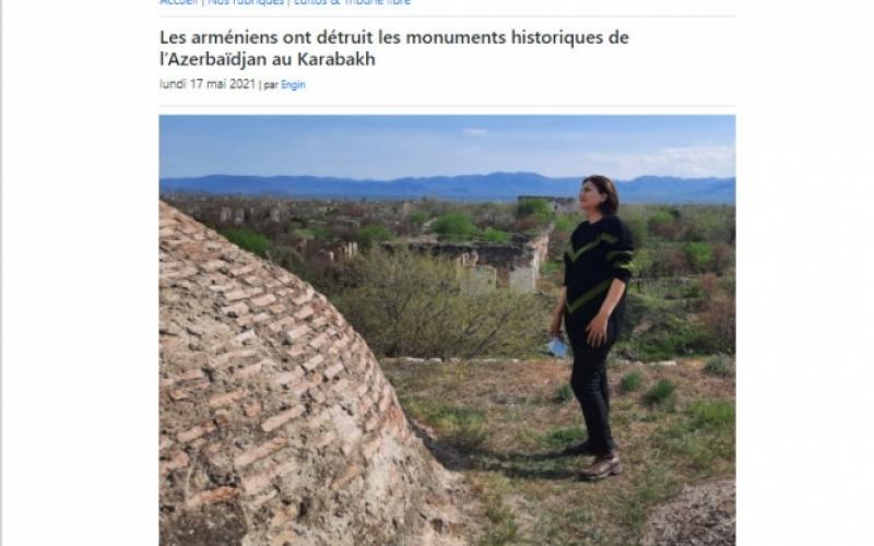 Fransa portalı: Ermənilər Qarabağda Azərbaycanın tarixi abidələrini dağıdıblar
