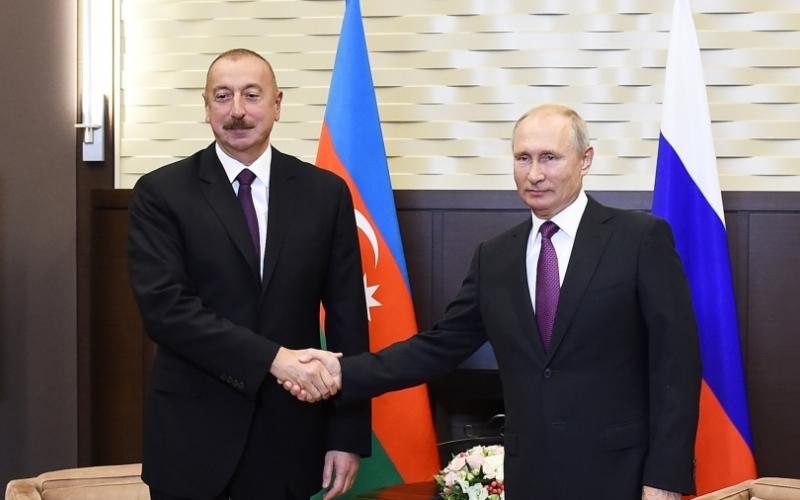 Vladimir Putin: Azərbaycan beynəlxalq gündəlikdəki mühüm məsələlərin həllində fəal rol oynayır