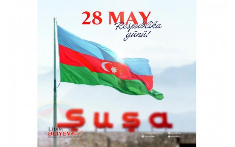 Azərbaycan Prezidenti Respublika Günü ilə bağlı paylaşım edib