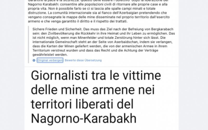 Senator Mauro Marino: Beynəlxalq ictimaiyyət Azərbaycanı dəstəkləməlidir
