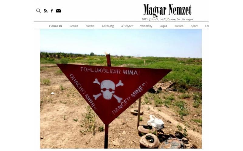 Macar jurnalist: Bakı dağıdılmış regionların bərpası üçün qüvvəsini əsirgəməyəcək