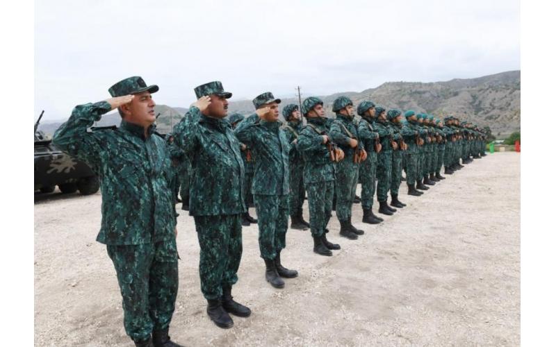 Qubadlı və Laçında DSX-nin yeni hərbi hissələri istifadəyə verilib