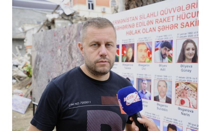 Bolqar jurnalist: Müharibə bölgəsindən uzaqda yerləşən şəhərin bombalanması məndə şok effekti yaratdı