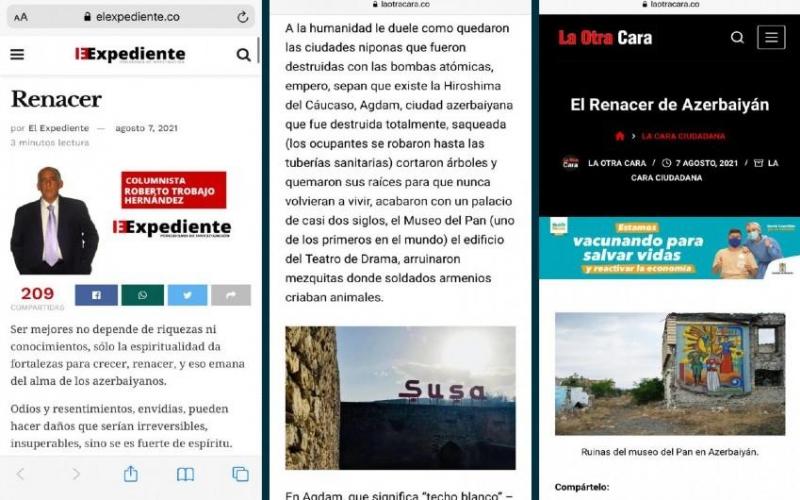 Qarabağda olmuş kolumbiyalı jurnalist erməni vandallığını ifşa edib