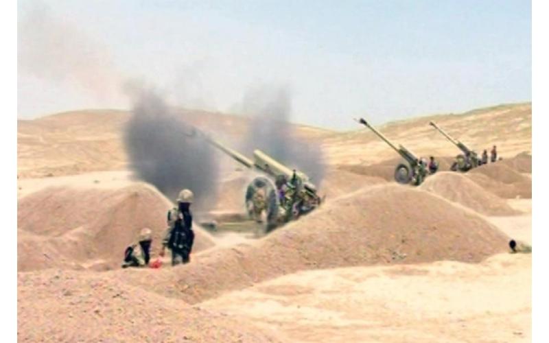 Azərbaycan Ordusunda artilleriya bölmələrinin döyüş atışlı təlimləri keçirilir