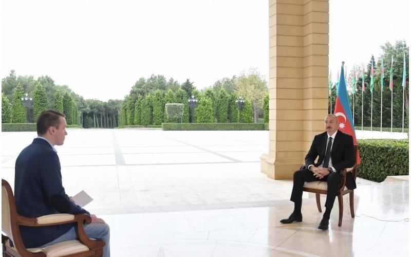 """Zəfər xronikası: 6 oktyabr 2020-ci il Prezident İlham Əliyevin Rusiyanın """"Pervıy Kanal"""" televiziyasına müsahibəsi"""
