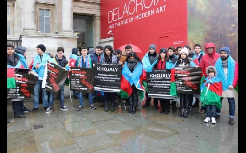 Londonda Xocalı soyqırımının ildönümünə həsr edilmiş yürüş-mitinq